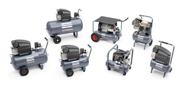 Automan AF & AC: Ölgeschmierte und ölfreie Kolbenkompressoren für die Werkstatt